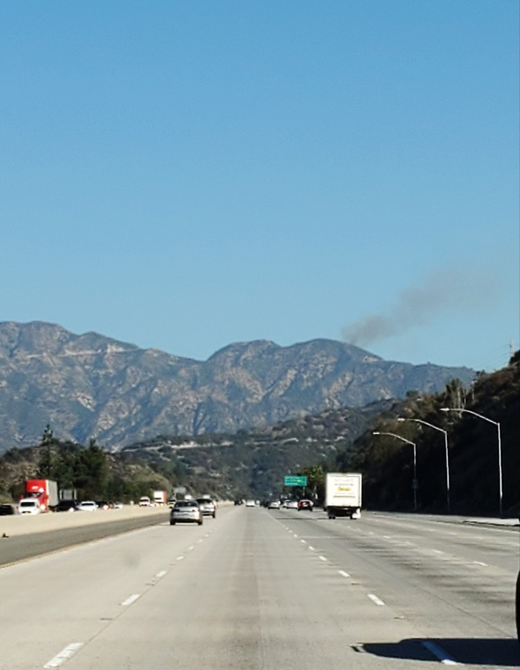 A fire seen in the hills
