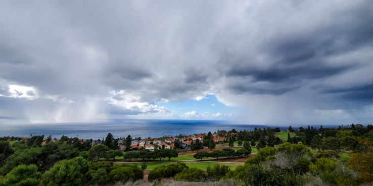 Two rainstorms just over the Pacific