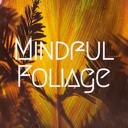 a smaller version of the mindful foliage website logo