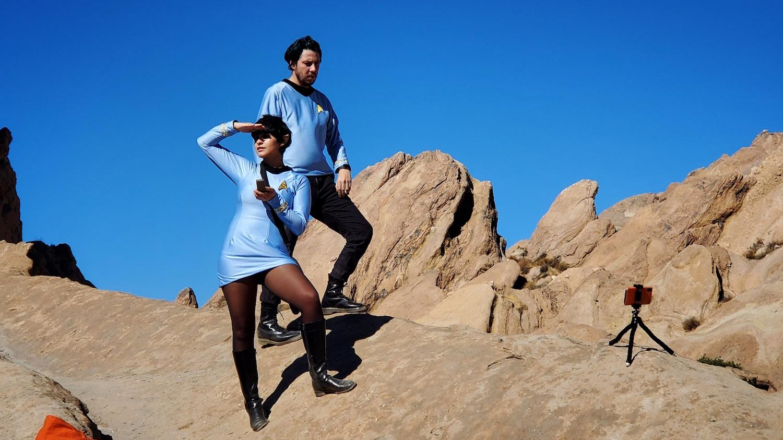 A few trekkies on a trek in Vasquez Rocks