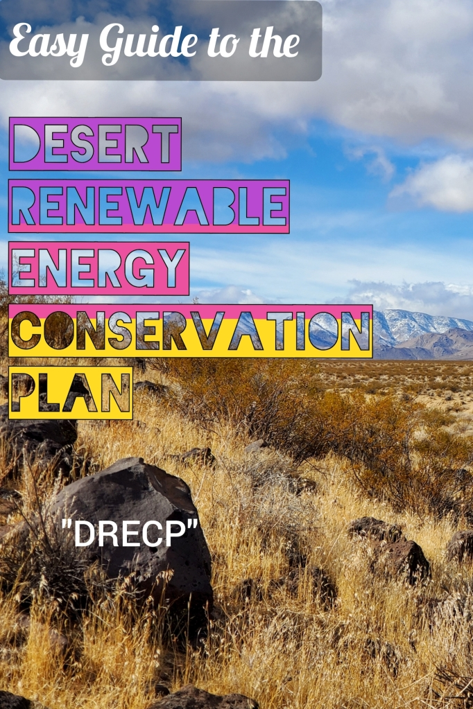 A pinterest image on the Desert Renewable Energy Conservation Plan