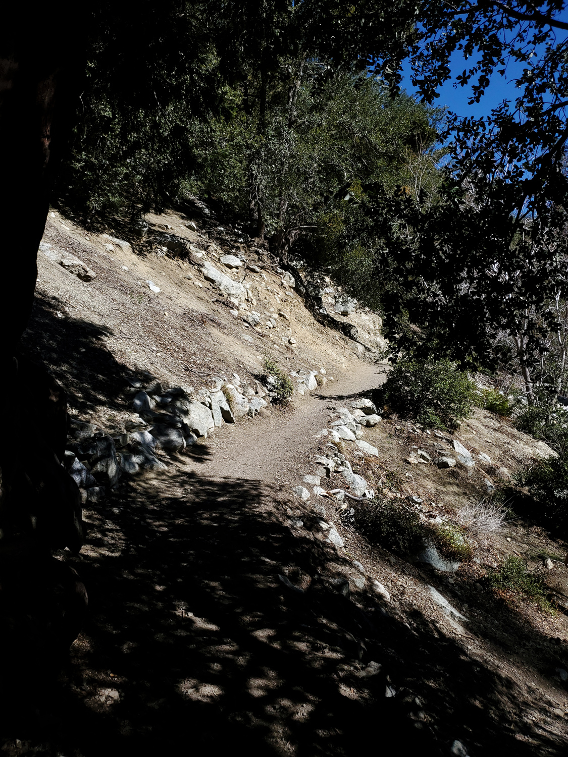 Portions of the Icehouse Canyon Trail were completely dry and around 65 degrees
