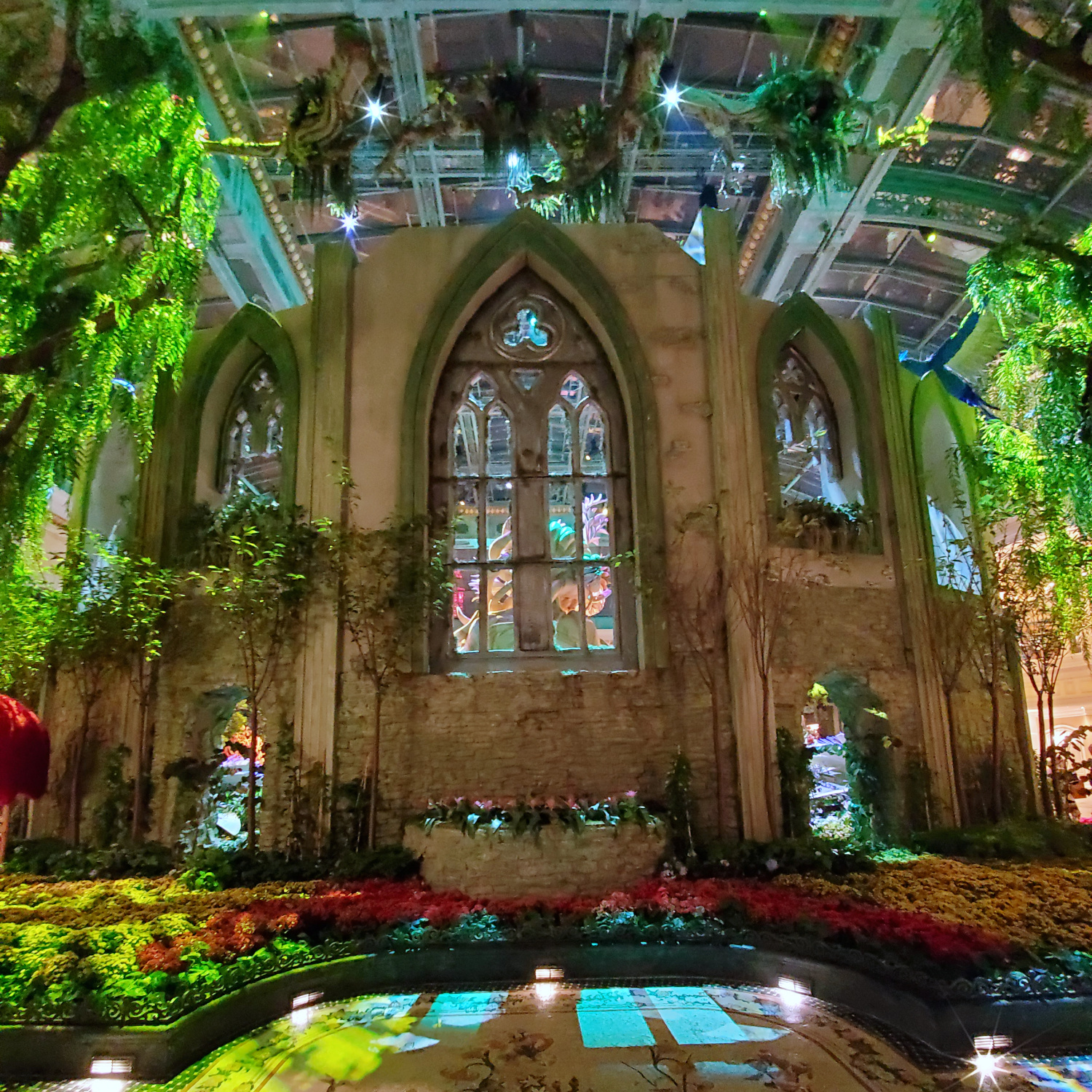 An amazing indoor cathedral piece at a Las Vegas casino