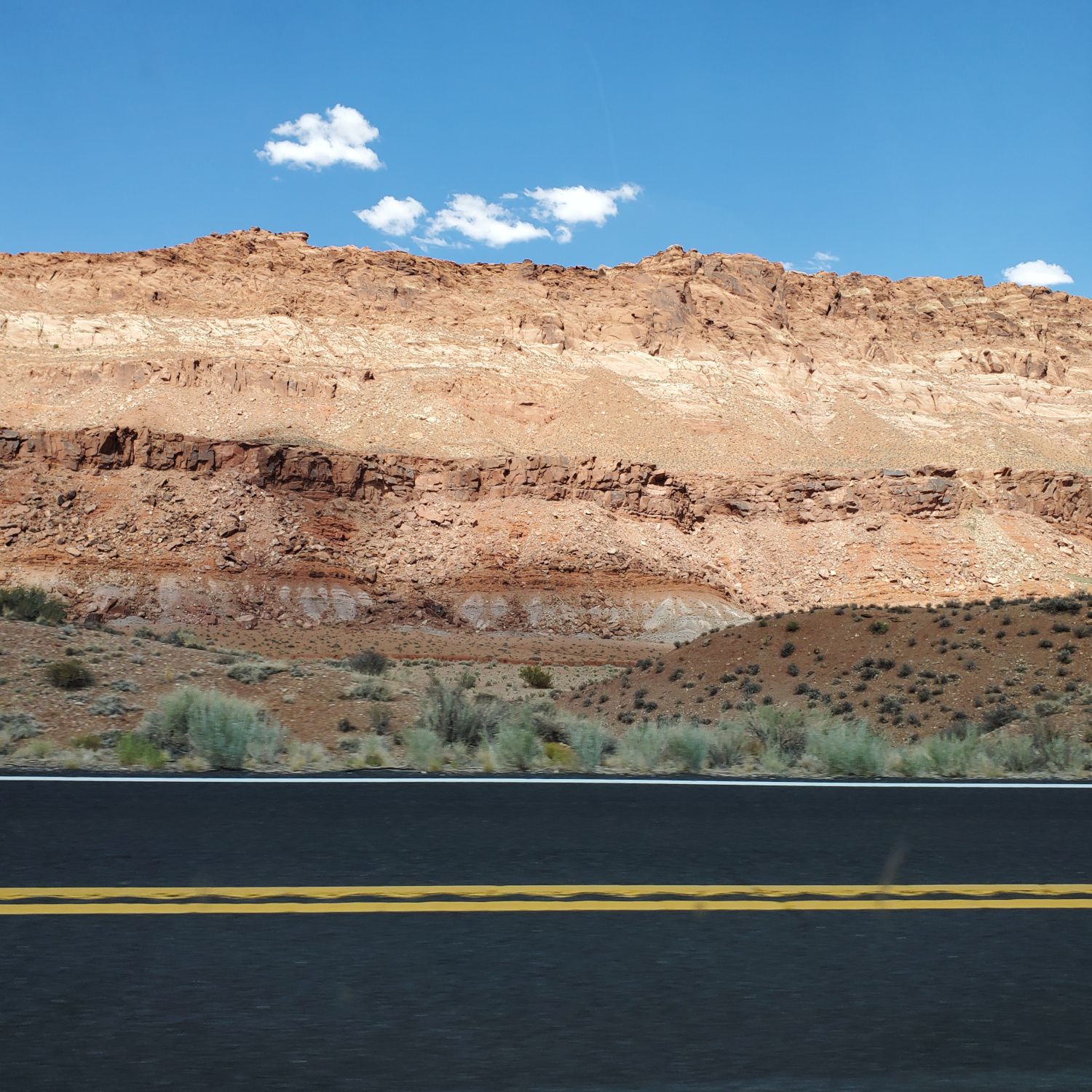 The view next to the road in Northern Arizona